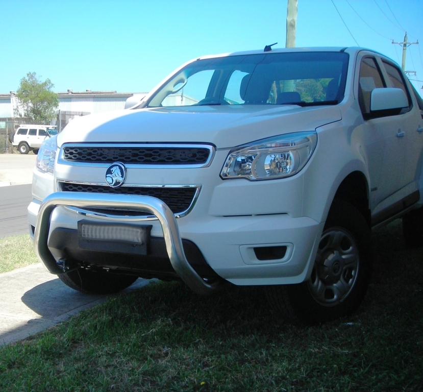Holden Colorado RG 06/12-on 76mm LO Rise Nudge Bar SRS AIRBAG COMPATIBLE